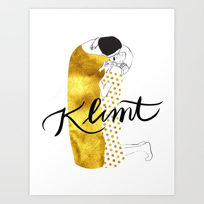 Klimt golden Art Print