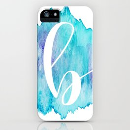"Watercolor ""b"" iPhone Case"
