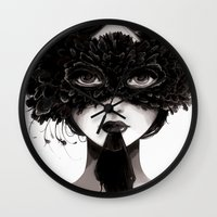 la Wall Clocks featuring La veuve affamee by Ludovic Jacqz
