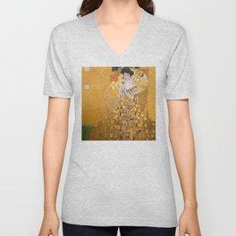 Gustav Klimt - Portrait of Adelle Bloch Bauer Unisex V-Neck