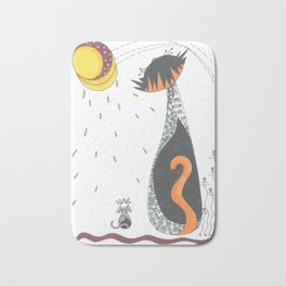 Cat & Mouse Ponder the Universe Bath Mat
