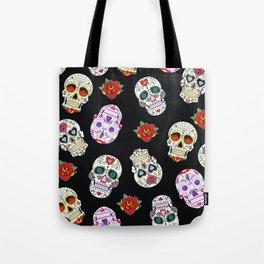 Sugar Skull Pattern Tote Bag