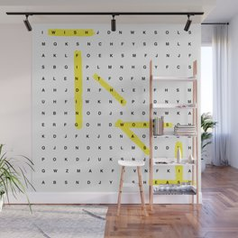 Word Search Wall Mural