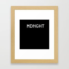 Midnight (BLCK #6) Framed Art Print
