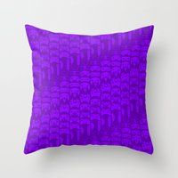 video game Throw Pillows featuring Video Game Controllers - Purple by C.Rhodes Design