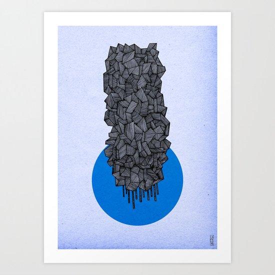 - future grey - Art Print