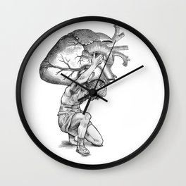 Heavy-Hearted - The Weight of the World Wall Clock