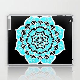 Lovely Sky Blue Mandala Flower Laptop & iPad Skin