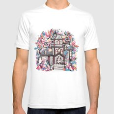 Trick or Treat White MEDIUM Mens Fitted Tee