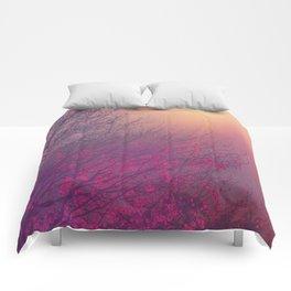 Pink Purple Autumn Dusk Comforters