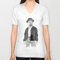 heisenberg V-neck T-shirts featuring Heisenberg by Andy Christofi