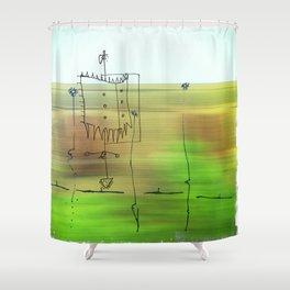 Subterranean Shower Curtain