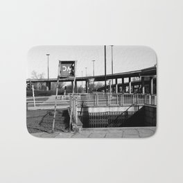 deep down the soul of the city of warsaw, poland Bath Mat