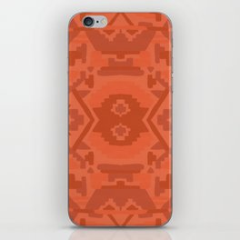 Geometric Aztec in Chile Red iPhone Skin