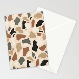 Abstract Terrazzo - Earth Tones Stationery Cards