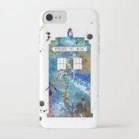 tardis iPhone & iPod Cases featuring Tardis by Beth Naeyaert