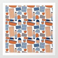 Pattern Project #39 / Stripy Things Art Print