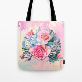 bouquet and watercolors Tote Bag