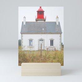 13. Big red lighthouse, Bretagne, France Mini Art Print