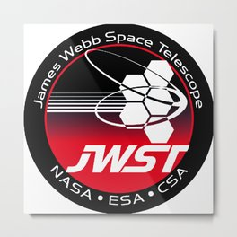 James Webb Space Telescope Program Logo Metal Print
