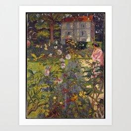 Édouard Vuillard - Garden at Vaucresson Art Print