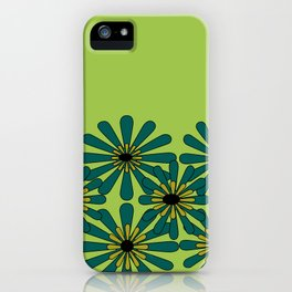 Green Flower Pattern iPhone Case