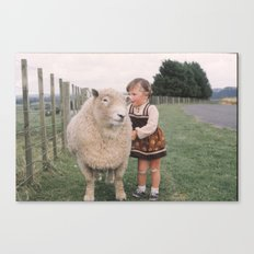 Sheep girl Canvas Print
