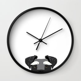 Schnauzer peeking face dog breed pure breed gifts Wall Clock