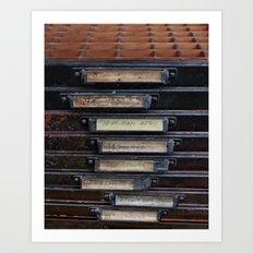 Type Drawers Art Print