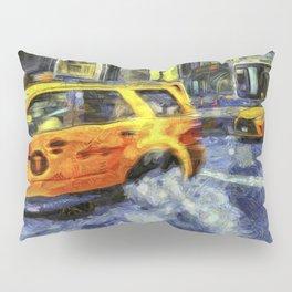 New York Taxis Art Pillow Sham