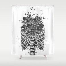 New life (b&w) Shower Curtain
