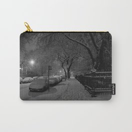 Chicago in Snow: A Study in White and Black #1 (Chicago Winter Collection) Carry-All Pouch