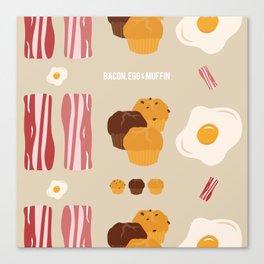 Bacon, Egg & Muffin!! Canvas Print