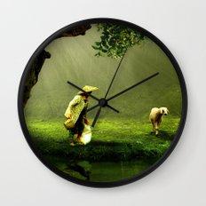 Shepherd Woman Wall Clock
