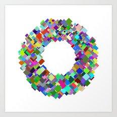 720 squares Art Print