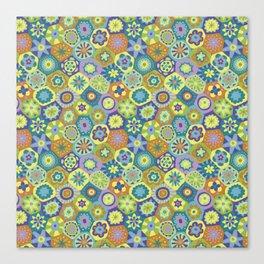 Millefiori-Jardin Colors Canvas Print