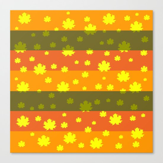 Golden autumn leaves Canvas Print