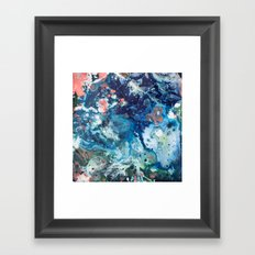 Color Commentary #15: Genesis (Teal {more blue than green} & Salmon) [Brianne Villano] Framed Art Print