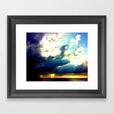 sunrise on mistic island Framed Art Print