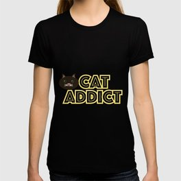 Cat addict T-shirt