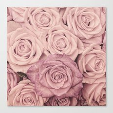 Some people grumble - Pink rose pattern- roses Canvas Print