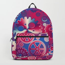 Colorful metallic gears Backpack