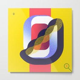 36 Days of Type · 0 Metal Print