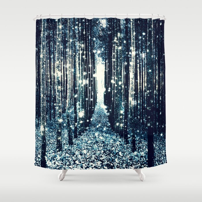 teal and gray shower curtain. Magical Forest Teal Gray Elegance Shower Curtain By Vintageby2sweet