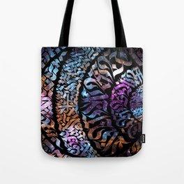 Calligram Nebula 1 Tote Bag