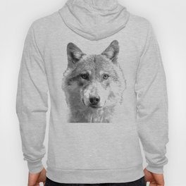 Black and White Wolf Hoody
