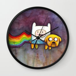 Nyan Time with Jake and Finn Wall Clock