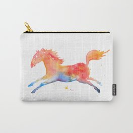 Rainbow horse in watercolors Carry-All Pouch
