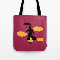 mary poppins Tote Bags featuring Mary Poppins by FilmsQuiz
