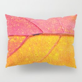 the leaf close up view - beautiful nature photo Pillow Sham